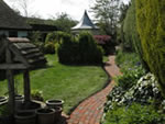 Traditional path in cottage garden